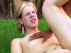 Shemale Layssa Taking a Big Cock