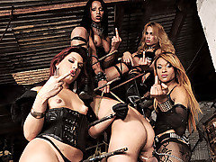 The dark Mistresses Avilla, Jackeline, Joy, Nicolly are at it again in their..