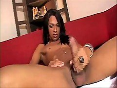 Avilla gives us a bit of a 'solo show' before hammering Bruno in the ass. from Tranny Seducers