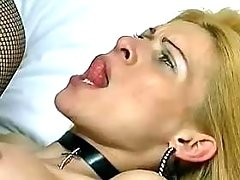 Lewd blond ts gets hard drilling from greatestshemales.com
