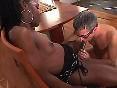 Tranny n man suck n fuck each other from greatestshemales.com