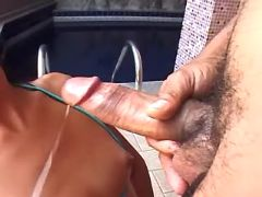 Latin tranny gets cum after blowjob from sexmv.com