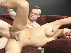Hot blond shemale ass fucked by man from sexmv.com