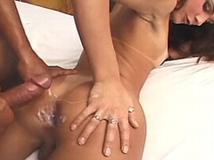 Pretty shemale gets jizz after fuck from sexmv.com