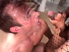 Guy gets fuck and cum by shemale from sexmv.com