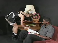Hot transsexual maid tempts blackie from sexmv.com