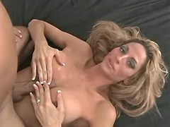 Longhaired gorgeous tranny titfucks from sexmv.com