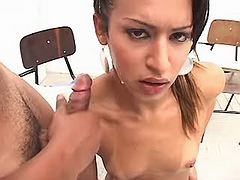 Ethnic shemale get face cum blasted from bestshemaleclips.com