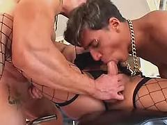 Group sex with TS whore on a party from bestshemaleclips.com