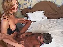 Happy shemale and her lover fucking from bestshemaleclips.com