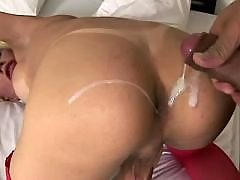 shemale cumshot from Cum Filled Trannys