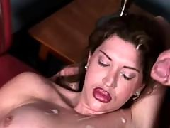 shemale cumshot from Tranny Seducers 1