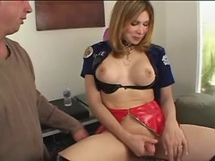 Guy sucks asian tranny in jackboots from shemalehotties.com
