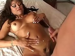 Hot shemale and guy jizz in hardsex from shemalehotties.com