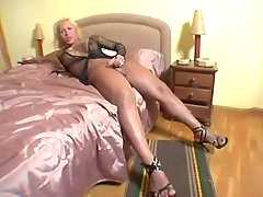 Hot shemale jizz in hotel from shemalehotties.com