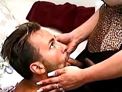 Tranny fucks guy in mouth from shemalehotties.com