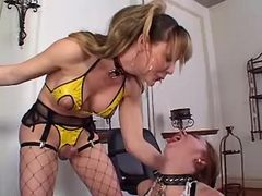 Fetish shemale fucks submissive gal from shemalehotties.com