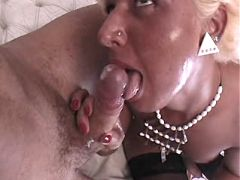 Tranny fucks guy and drinks his cum from theshemaleporn.com