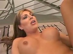 Shemale takes sausage in ass n jizz from thebestshemales.com