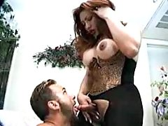 Shemale in sexy lingerie gets anal from thebestshemales.com