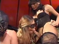 Shemale dominates slave girl n chap
