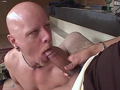 Bloke does blowjob to large shemale from thebestshemales.com