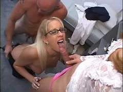 Shemale sucked by botan gal in orgy from thebestshemales.com