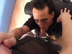 Guy greedily sucks shemales cock from freetrannyxxx.com