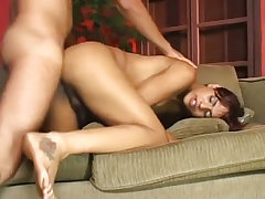 Stud held down and ass fucked by gorgeous shemale taina from Cum Filled Trannys