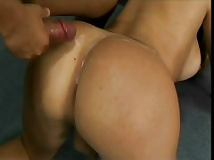 Tranny with big tits fucked in office from Cum Filled Trannys