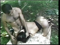 She male garden hoe gets the ass fucking of a lifetime from Cum Filled Trannys